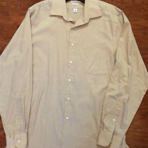 Men's tan dressy button down shirt